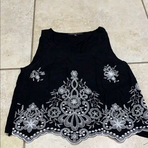 Romeo & Juliet Couture Embroidered Tank Top s